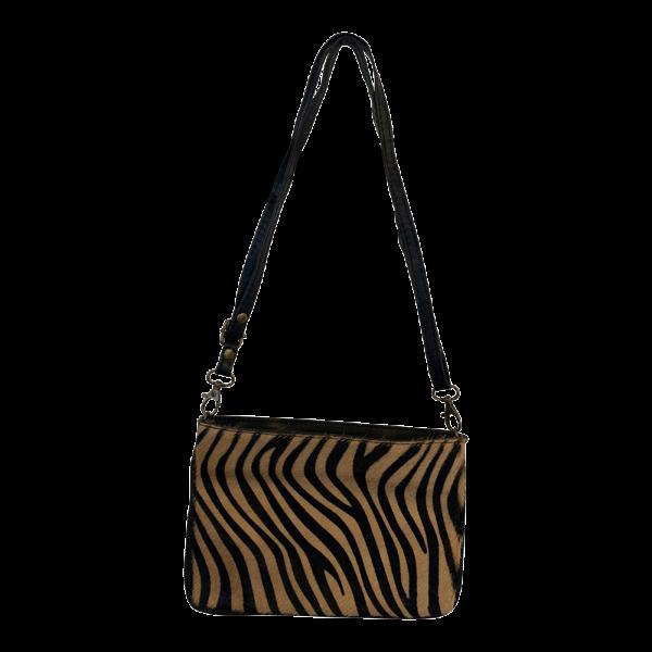 Vacht schoudertas - Zebra bruin