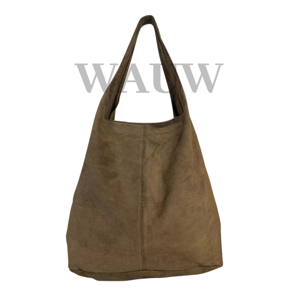 Suede shopper - Taupe